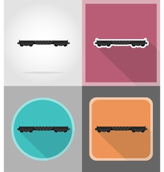 Railway transport flat icons 01 vector