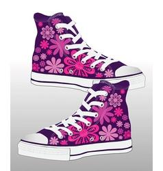 Retro sneaker shoe design vector