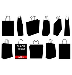 set of different shopping bags vector image