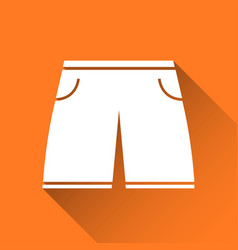 Simple mens swimsuit icon swimming trunks vector