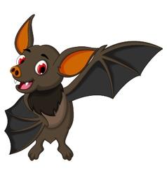 smiling bat cartoon posing vector image
