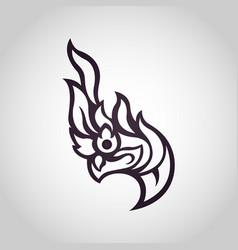 Snake logo in traditional thai art naga thai vector