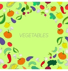 Text placeholder healthy color vegetables vector