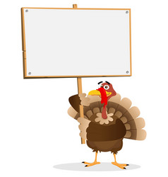 Thanksgiving turkey sign vector