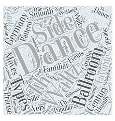 Types of ballroom dancing word cloud concept vector