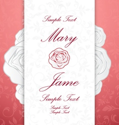Wedding invitation card vintage ornate card vector