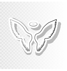 wings sign new year blackish vector image vector image