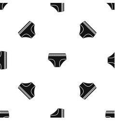 Woman cotton panties pattern seamless black vector