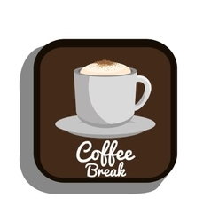 coffee break cup plate graphic vector image