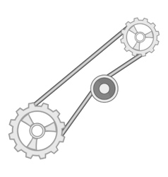 Timing belt icon cartoon style vector image