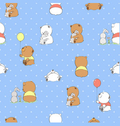 cute cartoon bears vector image