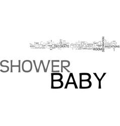 Baby shower novel way of arrangement text word vector