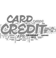 Why get a low apr credit card text word cloud vector