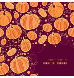 Thanksgiving pumpkins corner decor pattern vector