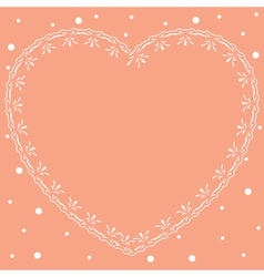 Pink romantic card with ornamental heart vector