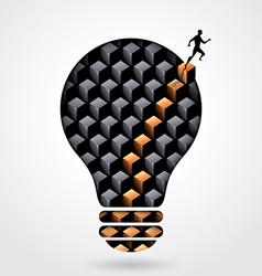 Creative thinking business concept light bulb vector image