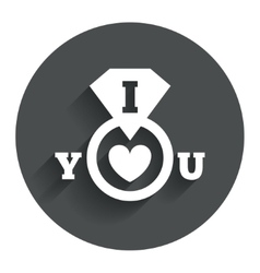 I love you sign icon valentines day symbol vector