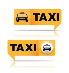 Taxi Banners vector image