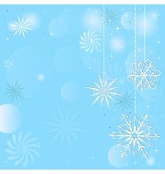 Christmas blue frame vector image
