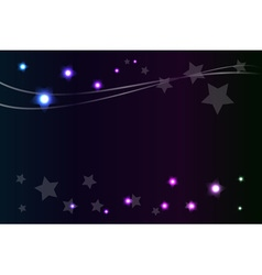 Shiny star in night abstract background vector