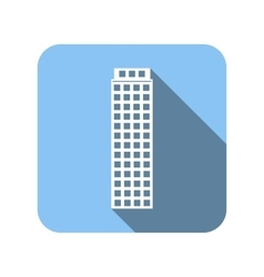 Blue house flat icon vector