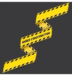 Yellow security warning tapes set caution vector