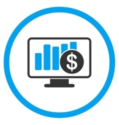 Sales monitor icon vector