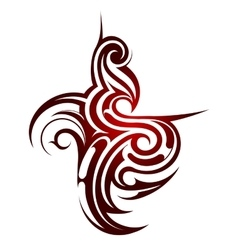 Tribal tattoo shape vector image