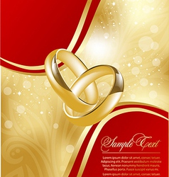 abstract gold greeting card for design vector image vector image