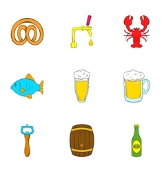 Ale icons set cartoon style vector