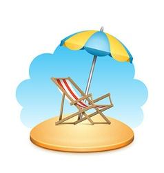 Beach chair design vector