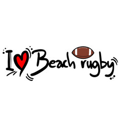 beach rugby love vector image
