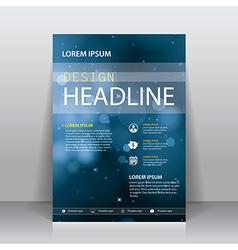 Brochure flyer cover design template vector