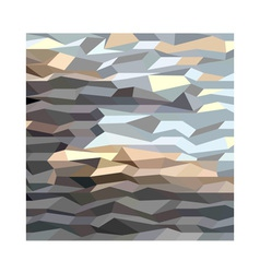 Brown grey abstract low polygon background vector