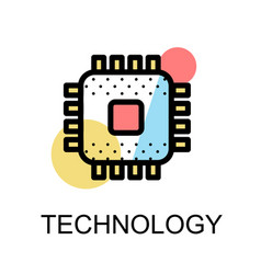 chip icon for high technology vector image