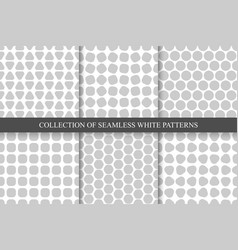 Collection of seamless simple geometric patterns vector
