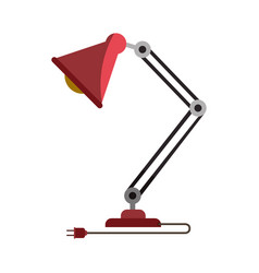 Colorful graphic of modern desk lamp without vector