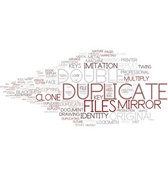 Duplicate word cloud concept vector