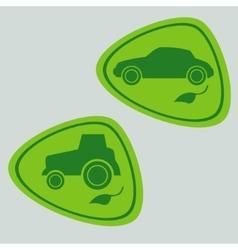 Eco car with bio fuel vector