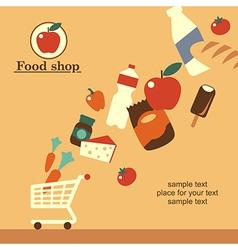 food shop background retro vector image