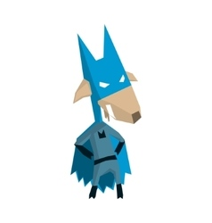 Goat Super Hero Character vector image