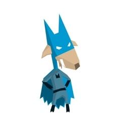 Goat super hero character vector