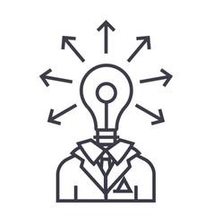 idea businessman linear icon sign symbol vector image