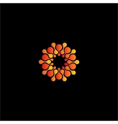 Isolated abstract orange color flower logo vector