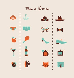 man and woman symbols vector image vector image
