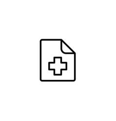 medical patient history record file icon on white vector image