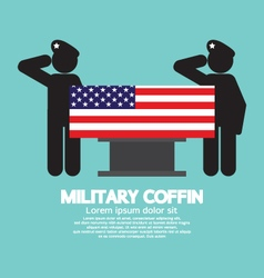 Military coffin funeral vector