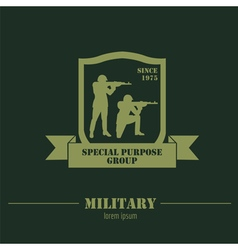 Military logo and badges graphic template vector