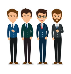 Profesional business people vector
