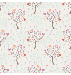 Seamless background with trees and multicolored vector